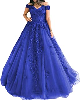 Appliqued Lace Garden Long Formal Party Gowns Ladies Formal Prom Bridal Dresses