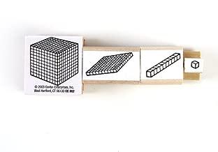 ETA hand2mind Wood Base Ten Stamps, Set of 4