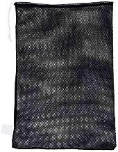 Champion Sports Mesh Sports Equipment Bag, Black, 24x36 Inches - Multipurpose, Nylon Drawstring Bag with Lock and ID Tag for Balls, Beach, Laundry