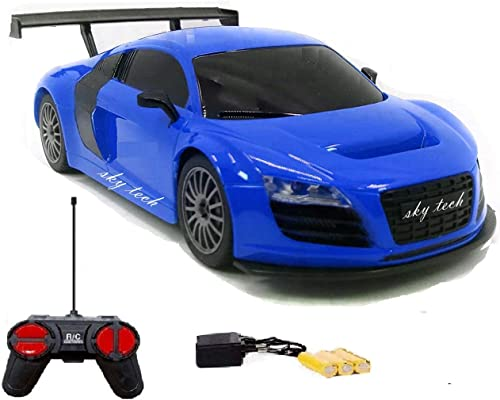Sky Tech Rechargeable Racing Car For Kids With Remote Control Assorated Design Multi Color