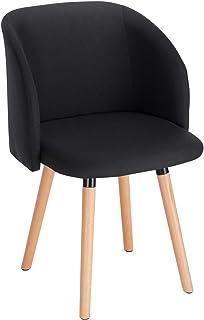 WOLTU 1x Sillas de Comedor Nordicas Estilo Vintage Dining Chairs Juego de 1 Sillas de Cocina Sillas Tapizadas en Lino Sill...