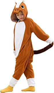 Unisex Children Onesie Animal Pajamas One-Piece Cosplay Halloween Costumes