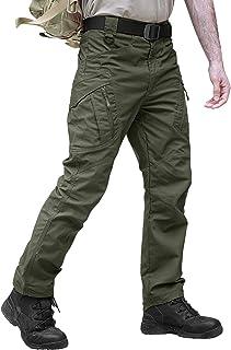 TACVASEN タクティカルパンツ メンズ アウトドア 多機能 カーゴパンツ 作業着 カジュアル ズボン ミリタリー 耐摩耗性 コンバットパンツ マルチポケット