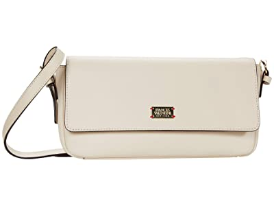 Frances Valentine Ellie Tumbled Leather Baguette (Oyster) Handbags