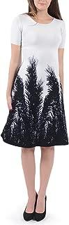 Isabel de Pedro Palm Flare Knit Dress