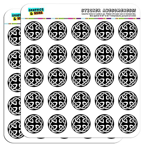 Celtic Knot 1' Planner Calendar Scrapbooking Crafting Stickers - Opaque