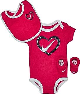 Nike Infant Heart 3-Piece Box Set Pink