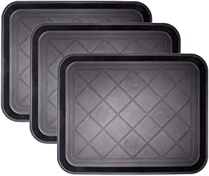 "Fasmov Friendly Utility Boot Tray Mat Multi-Purpose Anti-Slip Tray Mat Boots, Dog Food Bowls, Gardening, Laundry, Kitchen, Garage, Entryway, 20"" x 15"", Pack of 3"