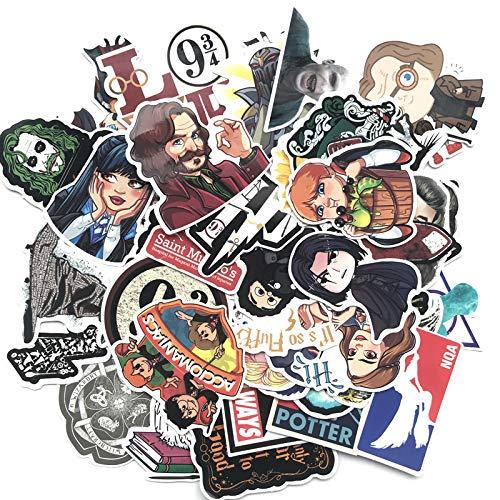 BLOUR Harrys Potters Aufkleber Set Aufkleber Für Kinder Gepäck Skateboard Laptop Cartoon Filme Aufkleber Für Kinder 53 teilepaket