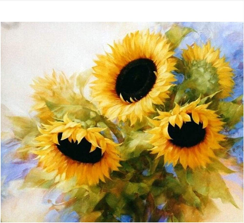 Für Erwachsene Auf Leinwand Gelbe Blaume Acrylmalerei Mit Pinsel DIY Ölgemälde Kit-Rahmen 40X50Cm B07PFV78RZ   Geeignet für Farbe