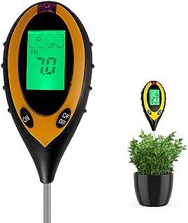 土壌酸度計 シンワ 測定 多機能 4 in 1 PH値 照度 湿度 土壌温度 高精度 ペーハー測定器 農業 ガーデニング 家庭菜園 対応 土壌 PH 測定器 LEDバックライト 簡単操作