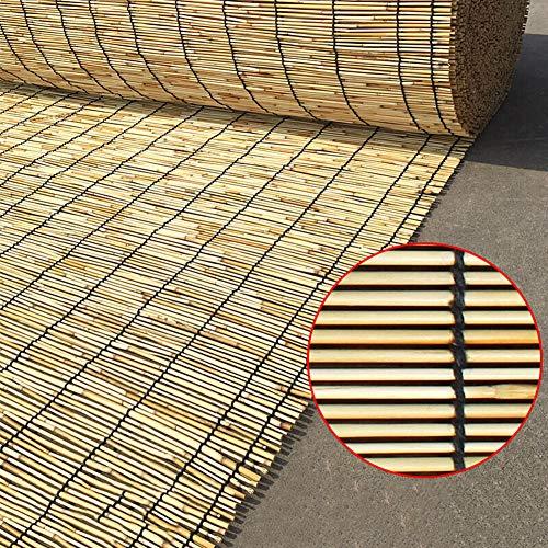 Preisvergleich Produktbild Natürlicher Roll-Up Reed Shade,  Bambusrollo raffrollo,  für Außen / Innen / Veranda / Garten / Terrasse,  Primärfarben,  anpassbar (100 / 120 / 130cm,  Breite)