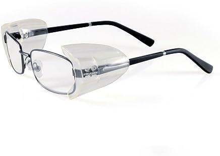 Safety Glasses Side Shields,2 Pairs Slip on Clear Side Shields Protection for Safety Glasses-Fits Medium to Large Eyeglasses Eye Protector Flexible Clear Universal Unisex (Size M)