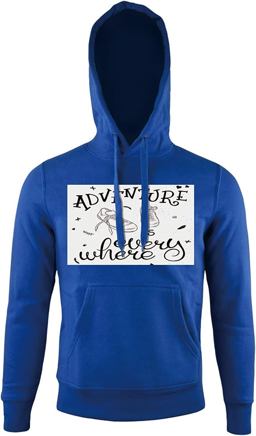 Print Hoodie, Youth Theme with Pair of Sneakers Walking Hiking,for mens