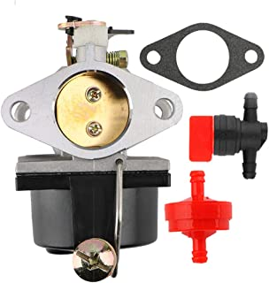 TDPARTS 640065 640065A Carburetor with Fuel Line Shut Off Valve for Tecumseh OHV125 OHV130 OVH135 OHV110 OHV115 OHV120 OV358EA 13HP 13.5HP 14HP 15HP Engine Tractor Lawn Mower Parts