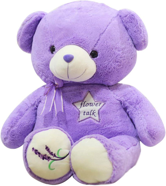 cómodo Teddy Bear Plush Doll, Simulation Cute Cute Cute Lavender púrpura Teddy Bear Doll Juguete Regalo de cumpleaños, San Valentín, decoración del hogar Coche 80 100 120 140   160cm ZDDAB  descuento de ventas