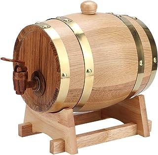 Tonneau à vin en chêne, 1,5 litres de vin en fût de chêne, bois de cognac, brandy, whisky, tequila pour le brassage à domi...