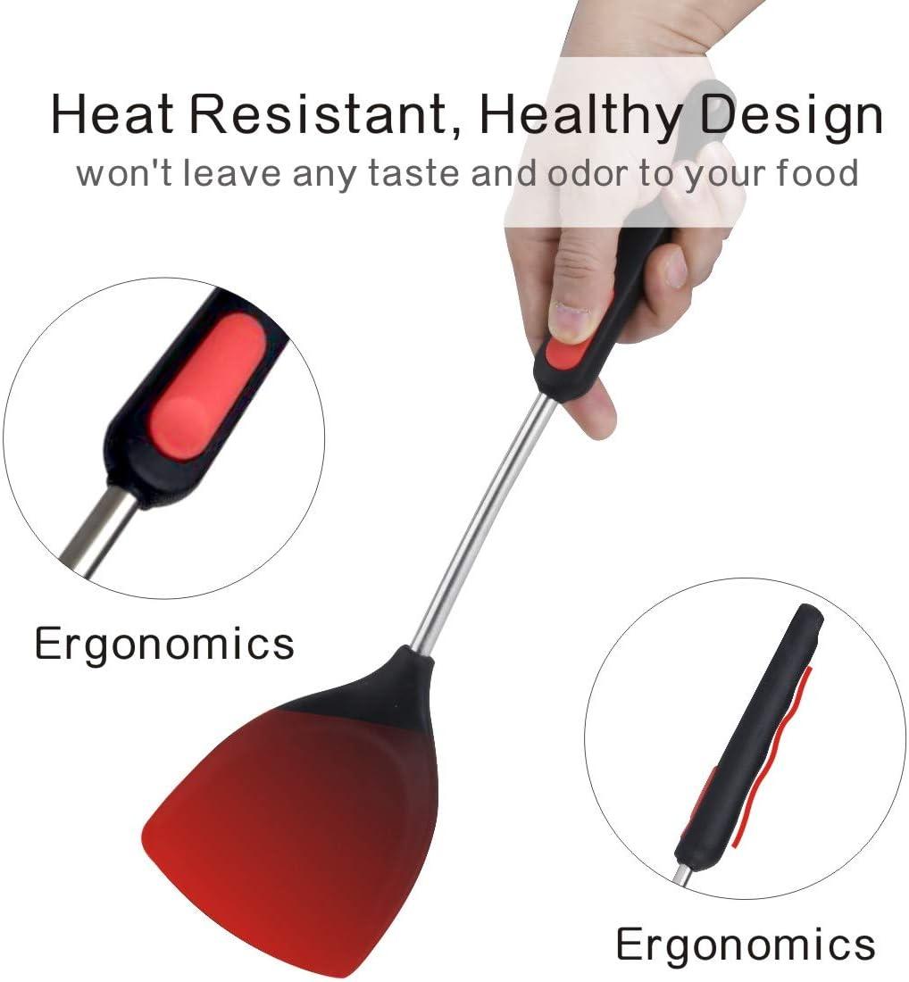 iNeibo Spatule Wok pour Cuisine en Silicone Alimentaire R/ésistant /à la Chaleur sans bpa