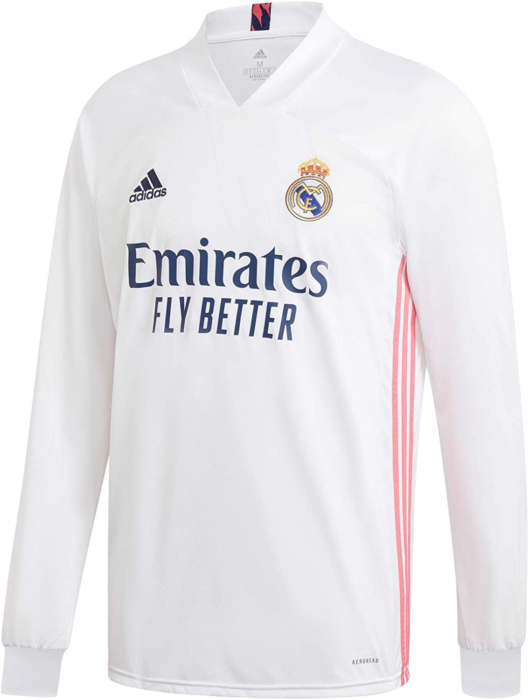 Amazon.com: adidas Real Madrid CF Home Men's Long Sleeve Soccer ...