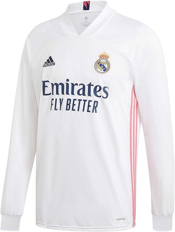 adidas Real Madrid CF Home Men's Long Sleeve Soccer Jersey