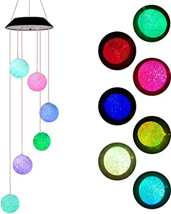 Colorful Solar Spiral Spinner Waterproof Romantic Star Moon Wind Light For Home Party Balcony Courtyard Hanging Decoration Gift Elisson 1992 Color Changing LED Solar Mobile Wind Chimes