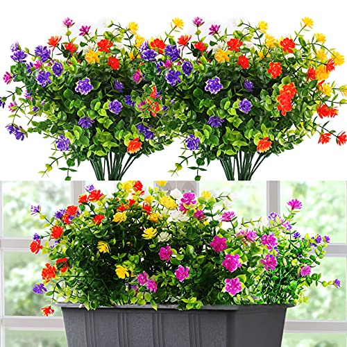 PAIRIER Flores Artificiales Flor Falsas 5 Piezas Plantas Decorativas De Interior Y...