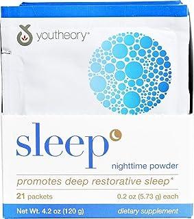 YOUTHEORY Sleep Powder Advanced Packets 21 Count, 0.02 Pound