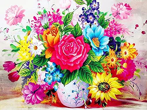 Evershine 5D diamante mosaico flor diamante pintura taladro completo cuadrado flores diamantes de imitación imágenes diamante bordado escénico A4 60x80cm