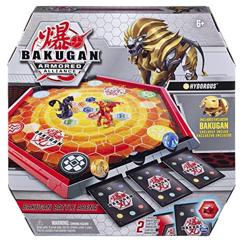 Bakugan 6056040 - Armored Alliance Battle Arena, umrandetes Spielfeld mit exklusivem Aurelus Hydorous