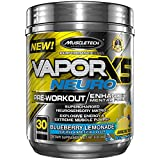 MuscleTech Vapor X5 Neuro Pre Workout Powder, Enhanced Mental Focus and Explosive Energy Supplement, Blueberry Lemonade, 30 Servings (9.6oz)