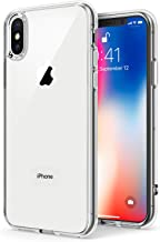 TENOC Phone Case Compatible with Apple iPhone Xs and iPhone X/10, Crystal Clear Ultra Slim Cases Soft TPU Cover Full Protective Bumper