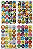 Adesivi Scuola Incoraggiamento Lode Ricompensa Well Done Star Reward Lode Scolastici Insegnanti Etichette Adesivo Gommine Autoadesive Stelle Emoji Smiley Sticker Bambi Scrapbooking Photo DIY Accessori