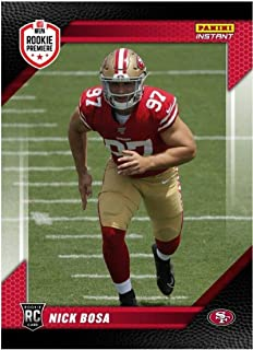 2019 Panini Instant RPS Rookie Premiere 1st Look #FL2 NIck Bosa San Francisco 49ers RC Official NFL Football Trading Card Only 142 Made