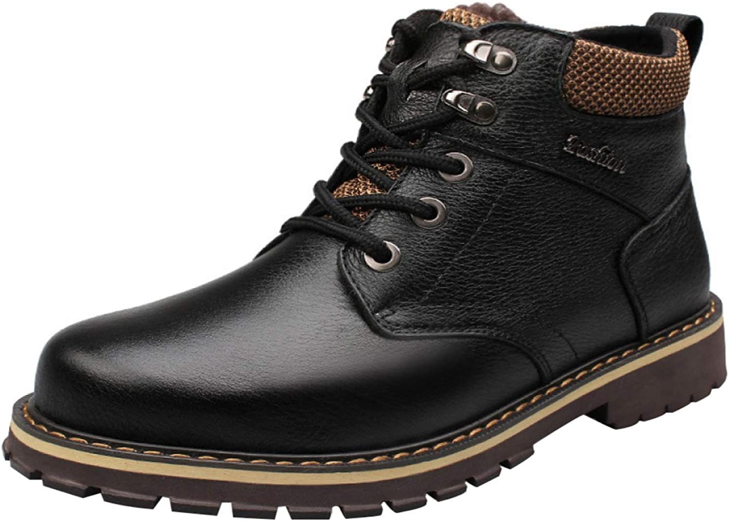 RSHENG Men's Outdoor Casual Ankle Boots Fashion Warm And Comfortable Martin Boots Upgrade