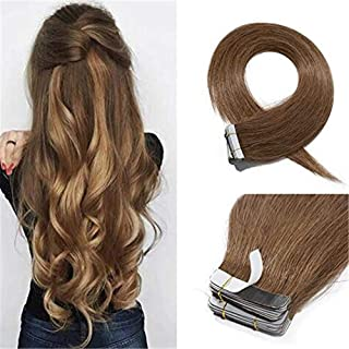 RemeeHi Tape in Hair Extensions Human Hair 22 Inch 50g/pack 20pcs Seamless Skin Weft Remy Silky Straight For Women Beauty 613# Bleach Blonde