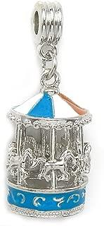 GemStorm Silver Plated Dangling 'Carousel' For European Snake Chain Bracelet
