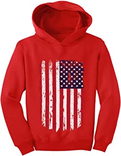 Tstars USA Vintage Flag 4th of July American Flag Toddler Hoodie