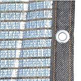 GuoEY Tela de Sombra 75% Aluminet Reflectante con Ribete Negro y Arandelas, Cubierta de Malla de protección Solar para jardín Patio Porche Balcón Cochera (Tamaño: 1 MX 4 m)