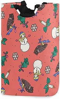 N\A Organisateur de Cadeau de Panier de Rangement Pliable sur Le thème des Vacances avec des Ornements de Noël, Bonhomme d...