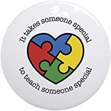 CafePress It Takes Someone Special to Teach Someone Special Round Holiday Christmas Ornament