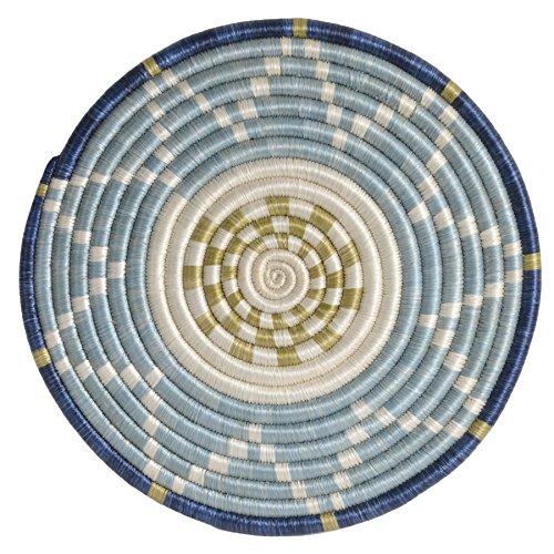 All Across Africa Handwoven Thousand Hills Trivet, Silver Blue