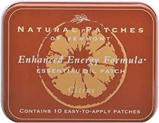 Natural Patches Of Vermont Citrus Enhanced Energy Essential Oil Body Patches, 10-Count Tins