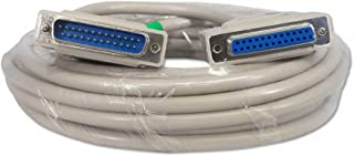 Your Cable Store 25 Foot DB25 25 Pin Serial Port Cable Male/Female RS232