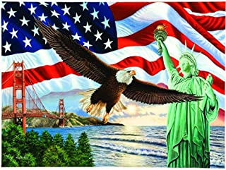 SUNSOUT INC from Sea to Shining Sea - American Flag Bald Eagle Liberty Puzzle - 1000 pc Jigsaw Puzzle