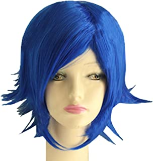 Juvia Lockser Wig Fairy Tail Juvia Cosplay Short Blue Warping Wig Costume Accessories