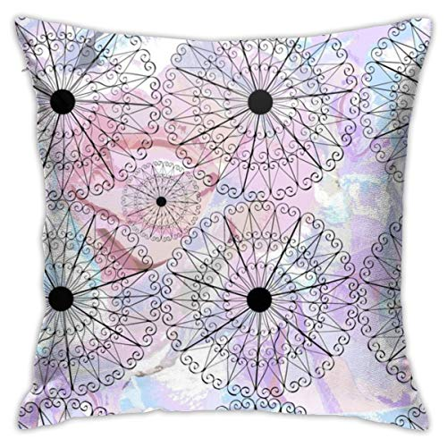N / A Cushion Cover Rose Garden with Gazebo Throw Pillow Cover Home Decorative for Living Room Bedroom Sofa Chair 18X18 Inch Pillowcase
