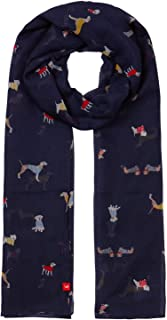 joules dog print scarf