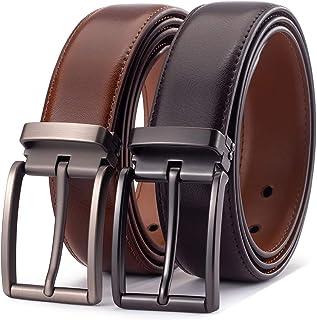 2 قطعة حزام رجالي من الجلد الإيطالي عالي التحمل أحزمة كاجوال للرجال مع إبزيم كلاسيكي