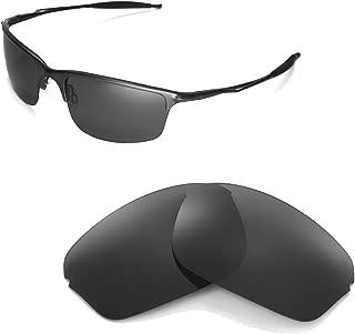 Polarized Black Replacement Lenses for Oakley Half Wire 2.0 Sunglasses