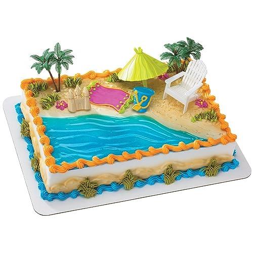 Peachy Beach Theme Cake Decorations Amazon Com Funny Birthday Cards Online Hendilapandamsfinfo